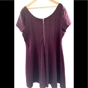 Maurice Size 2XL Purple Swing Dress